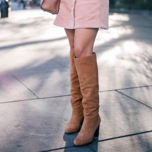 Sam Edelman Camel Suede Over the Knee Boots 6